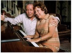 Jean Stapleton and Carroll O'Conner