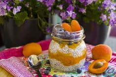 Chia Pudding with Marmalade and Fruits