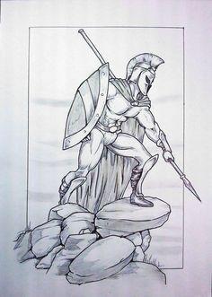 spartan warrior 03 by skintales5