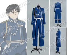 Fullmetal Alchemist Colonel Roy Mustang Military Uniform Cosplay Costume-cosplay costume