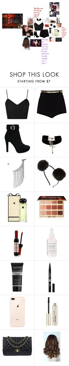 """My Bad girl (Bts//Jeon Jungkook/ Jungkook)"" by parksora-967 ❤ liked on Polyvore featuring Topshop, River Island, Yves Saint Laurent, StyleNanda, Jo Malone, tarte, NYX, Eyeko, Smith & Cult and Chanel"
