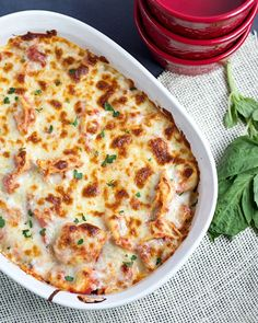 Twenty Minute Easy Tortellini Bake- 9 oz. package Tortellini, 1-1/2 c. mozzarella, 2-3 T. grated parmesan, 1-2 c. spaghetti sauce---- Cook tortellini according to directions, toss w/ spaghetti sauce, place in 1-1/2 qt baking dish and top w/ cheese. Bake at 350 for 8-10 min.