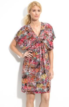 Gorgeous print on this Maggy London kimono dress!