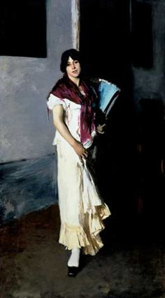 Italian Girl with a Fan by John Singer Sargent