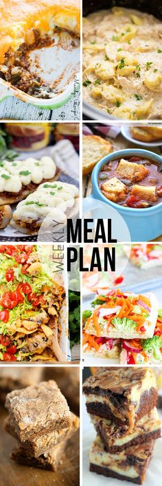 Meal Plan Sunday {Week 35} 6 meals, breakfast and two desserts making meal time easy.