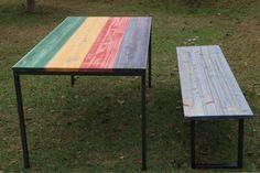 Dyed Hinoki Cypress Iron Furniture