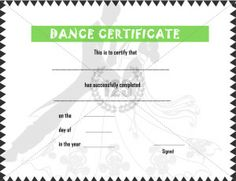 A certificate of excellence in dancing illustrated with dancers get the most elegant and gorgeous dance certificate template for your dance students on their course completion stunning design with amazing patterns pronofoot35fo Choice Image