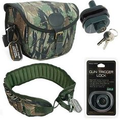 Camo cartridge bag + gun #trigger lock 12 bore belt #holder hunting #shooting gam,  View more on the LINK: http://www.zeppy.io/product/gb/2/401255261057/