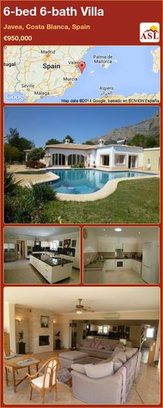 Villa for Sale in Javea, Costa Blanca, Spain with 6 bedrooms, 6 bathrooms - A Spanish Life Murcia, Seville, Malaga, Costa, Madrid, Spain, Bath, Majorca, Sevilla