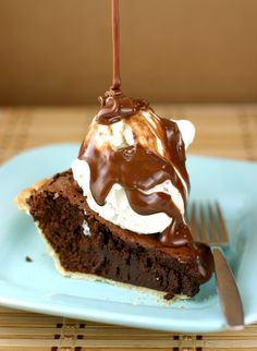 Brownie Truffle Pie: The Easiest Dessert in the World