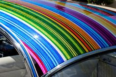 metal flake striped roof , via Flickr