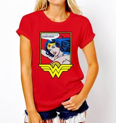 New Popular Funny Wonder Woman Logo Classic Superhero T-Shirt Tee Women S-XL #Gildan #GraphicTee