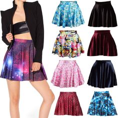 Cheap skirts collection, Buy Quality fashion english directly from China skirt sexy Suppliers:      2014 Women Skater Skirts Black Milk Galaxy Purple Skater Skirt Female Galaxy Pleated Skirt for Women S M L XL