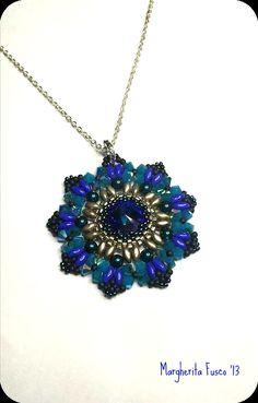 Velvet Flower pattern. Bead tutorial How to make pendant.