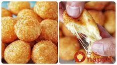 Máte doma kúsok syra a 3 lyžice múky? Len 15 minút a máte perfektné pohostenie pre návštevy – chlebíčky si nikto nevšimne! Yams, Pretzel Bites, Baked Potato, Snack Recipes, Chips, Appetizers, Treats, Vegetables, Breakfast