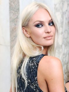 View From the Red Carpet: Candice Swanepoel Goes Platinum : Daily Beauty Reporter :  Candice Swanepoel has ditched her sultry, Victoria's Secret catalog–ready golden hair for something decidedly edgier. I spoke to the model last night at the Plaza Hotel, where she attended the fourth annual amfAR Inspiration Gala honoring Jennifer Lopez and...