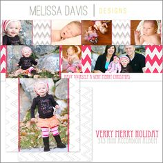 NEW 2012 Very Merry Holiday mini accordion template set from Melissa Davis Designs!