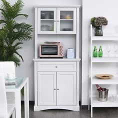 Tall Kitchen Pantry Cabinet, Free Standing Kitchen Pantry, Tidy Kitchen, Kitchen Storage, Cupboard, Storage Spaces, Kitchen Cabinets, Appliance Cabinet, Freestanding Kitchen