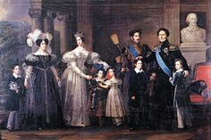 The Bernadotte family; Désirée (Queen Desideria of Sweden), Jean Baptiste (King Charles XIV John), (Crown Prince) Oscar their son, who was the godson of Napoleon, and his wife (Crown Princess) Josephine of Leuchtenberg, who was the grandaughter of France's Empress Josephine from her first marriage to Viscount Alexandre de Beauharnais.