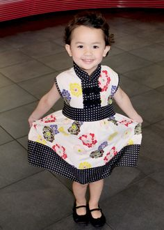 Redfish Kids Clothing Online Store - The Party Dress in White w Floral