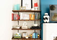For the Love of Color: Bookcase Styling
