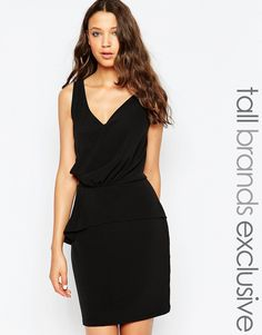 Image 1 ofY.A.S Tall Woven Dress With Peplum