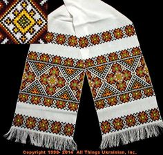 Hand Embroidered Ukrainian Rushnyk RXF14-11  from Lviv, Ukraine. Sold on AllThingsUkrainian.com