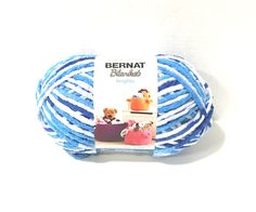Items similar to Bernat Blanket Brights Yarn Waterslide Variegated Large Skein 300 Grams New Home Decor Color on Etsy Bernat Baby Blanket, Blanket Yarn, Crochet Hooks, Knit Crochet, Bernat Yarn, Wash N Dry, Jelly Beans, Colorful Decor, Bright