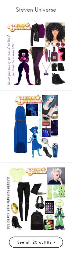 """""""Steven Universe"""" by neru-chan ❤ liked on Polyvore featuring Color My Life, Linda Farrow, Lancôme, Tom Ford, Majesty Black, Yves Saint Laurent, Call it SPRING, Ariel Gordon, Michael Kors and Lucky Brand"""