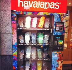Just what the world needs...Havaianas flip flop vending machines in Australian Airports.