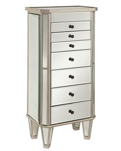 Powell Mirrored Floorstanding Jewelry Armoire at Lowe's. This modern jewelry armoire provides ample safe storage space for all of your bits and baubles. The top opens to reveal a mirror to help you adorn Mirror Jewelry Storage, Mirror Jewelry Armoire, Jewellery Storage, Jewelry Organization, Jewelry Chest, Jewelry Cabinet, Jewelry Stand, Jewelry Holder, Closet Organization