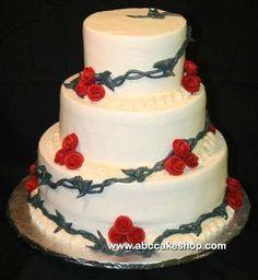 Western themed Wedding cake!
