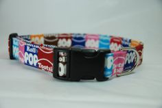 Tootsie Pop Large Dog Collar 1623 by GreatDogDesigns on Etsy, $16.99