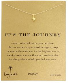 Dogeared It's The Journey Necklace 16 inch (Gold) Necklace on shopstyle.com