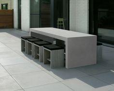 concrete garden table/ beton tuintafel