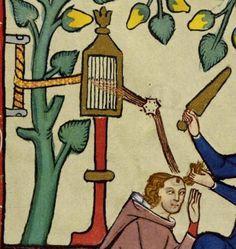 Durham Weaver Close up of the rigid heddle on a stand. Universitätsbibliothek Heidelberg, Cod. Pal. germ. 848 Große Heidelberger Liederhandschrift (Codex Manesse) (Zürich, ca. 1300 bis ca. 1340)