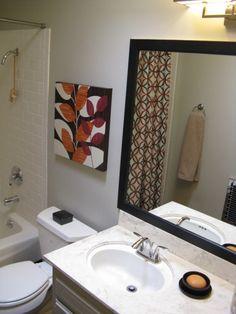 black, red, orange might be my next bathroom colors