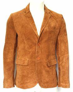 Vipzi Men's Brown Genuine Suede Leather blazer jacket Coat All size Fringe Leather Jacket, Leather Blazer, Suede Leather, Leather Varsity Jackets, Western Wear For Women, Stylish Jackets, Fashion Wear, Jacket Style, Wearing Black