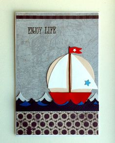 Nautical card - nautisk maritimt kort - sailboat - JKE