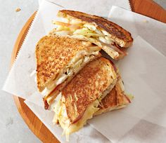 Muenster, Cabbage And Apple Sandwiches