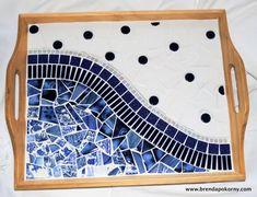 Paris Cafe mosaico que sirve de bandeja MOT3030 por brendapokorny