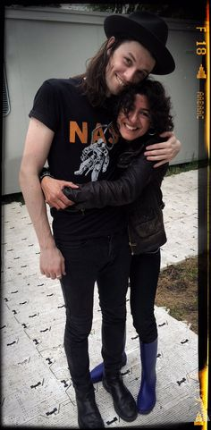 James Bay and fan.