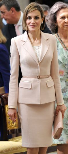 """Queen Letizia joined her mother-in-law Queen Sofia for the """"Royal Trust Disability Reina Sofia Awards.  4/29/2015"""