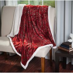 PLYH Throw Color: Red