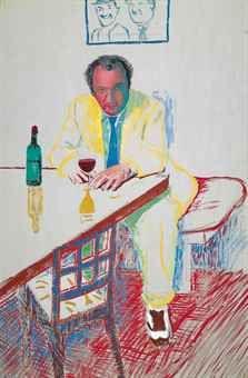 Hockney / Portrait of Peter Langan in Los Angeles