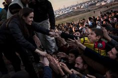 #UNHCR Special Envoy Angelina Jolie meets members of the Yazidi minority in Khanke IDP Camp, #Iraq, on 25 January, 2015. Ms Jolie was visiting Syrian #refugees and displaced Iraqi citizens in the #Kurdistan Region of Iraq to offer support to 3.3 million displaced people in the country and highlight their dire needs. © UNHCR/A.McConnell