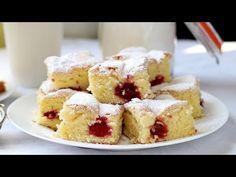 PRAJITURA CU VIȘINE | Bucătar Maniac - YouTube Fruit Sponge Cake, Sponge Cake Recipes, Romanian Desserts, Food Cakes, Sweets Recipes, Asmr, French Toast, Make It Yourself, Breakfast
