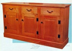 Sideboard Plans - Furniture Plans and Projects   WoodArchivist.com