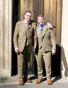 Two 3 Piece Tweed Wedding Suits in Lovat Mill Cloth