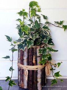 Un Cache pot avec bois et brindilles! 20 idées originales pour vous inspirer…